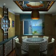 20平米中式简约风格酒楼包间装修效果图