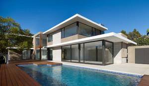 现代简约大型海景别墅装潢设计效果图
