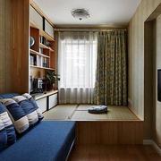 60平米小户型简约书房榻榻米装修效果图