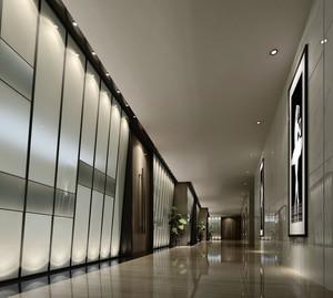 都市时尚大型企业走廊抛光砖装修贴图
