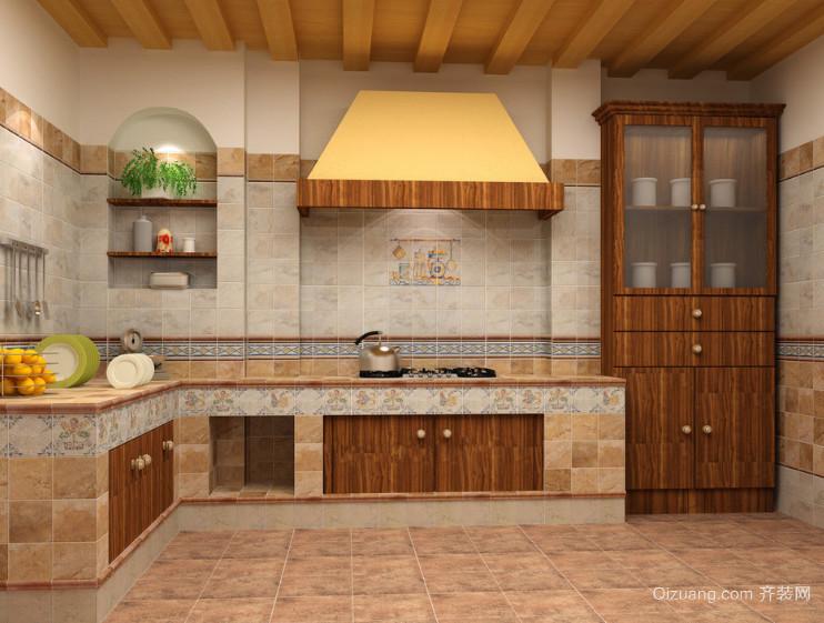 120平米大户型简欧厨房装修效果图鉴赏