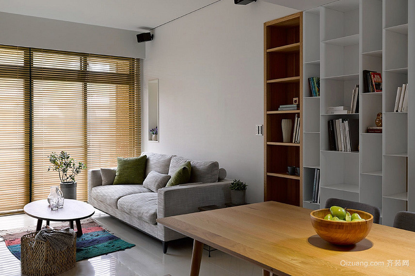 现代简约100平米复式新房装修布置效果图