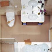 复式楼现代简约风格清新整体卫浴装修效果图