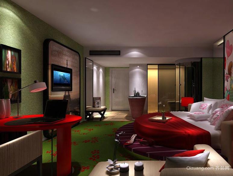精美主题大户型酒店卧室装修设计效果图