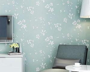 北欧风格小户型浅绿色客厅硅藻泥背景墙
