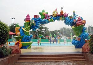 欢乐水上游乐场装饰效果图片