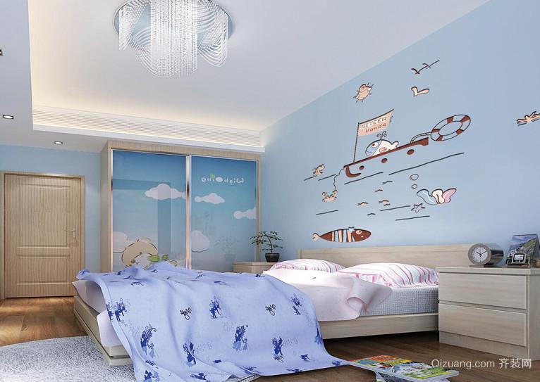 现代欧式大户型儿童房装修效果图鉴赏