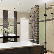 30平米后现代风格深色系卫浴装修效果图