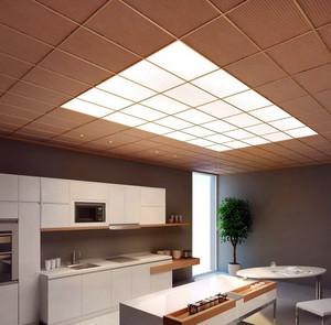 现代开放式6平米厨房铝扣板吊顶贴图
