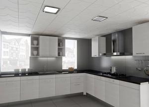 150平米家居厨房铝扣板吊顶贴图