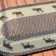 简约田园风格带有图案的客厅地垫装修效果图