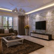 现代欧式大户型客厅背景墙装修效果图鉴赏