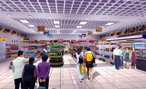 2016时尚风格超市设计装修效果图