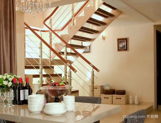 100平米现代简约风格阁楼楼梯装修效果图