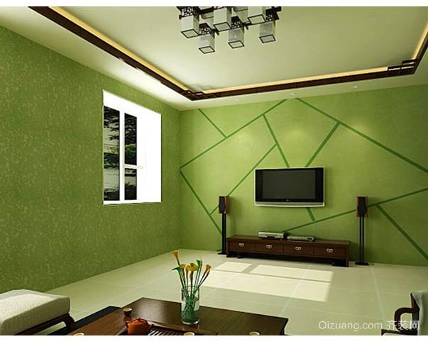 70平米小型清新客厅电视背景墙装修效果图