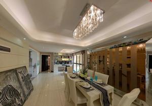 现代200平米家居餐厅水晶吊灯效果图