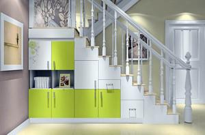 110平米自然风格室内楼梯设计效果图