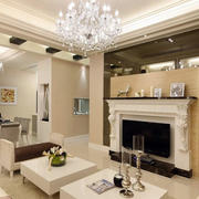 大型别墅欧式奢华客厅背景墙装修效果图