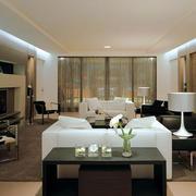 复式楼简约风格客厅样板房装饰