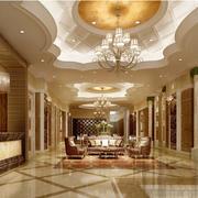 金碧辉煌欧式酒店大厅抛光砖贴图