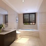 欧式大户型现代卫生间装修效果图实例欣赏