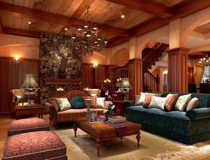 大户型美式装修风格样板房效果图实例欣赏