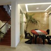 复式楼后现代风格客厅装修效果图欣赏
