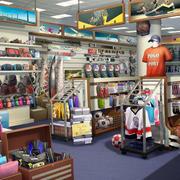体育商店货架图片