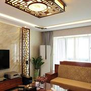180平米别墅中式风格客厅茶几装修效果图