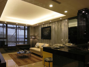 现代简约客厅样板房装饰