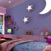 紫粉色系儿童房窗户装饰