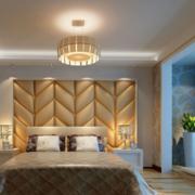 大户型现代卧室软包背景墙装修效果图鉴赏