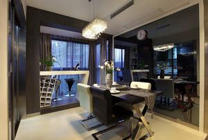 138平米北欧风格吧台设计装修效果图