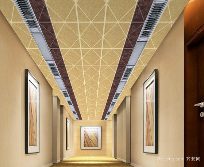 美式简约风格复式楼客厅原木茶几装饰 齐装网装修效果图