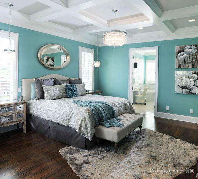 90平米现代大户型地中海风格卧室装修效果图