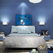 现代简约风格儿童房床头背景墙装饰