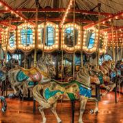 现代游乐场旋转木马装修效果图片