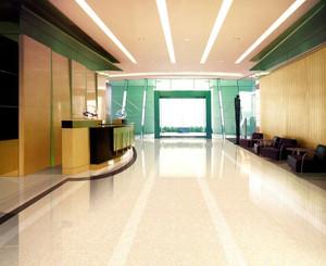 写字楼大厦大厅抛光砖装修效果贴图
