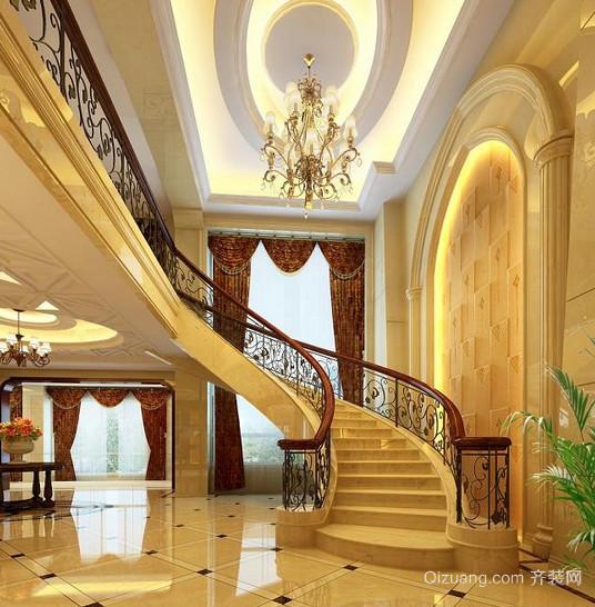 2016大户型现代欧式室内楼梯设计装修效果图