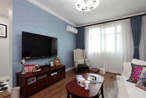 简约美式小户型新房装修布置效果图