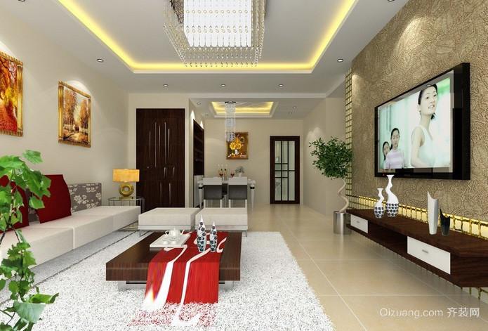 三居室田园风格客厅装修效果图欣赏