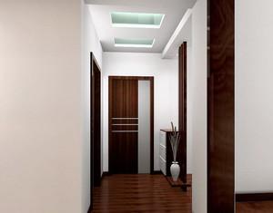 90平米中式原木简约风格客厅玄关装修效果图