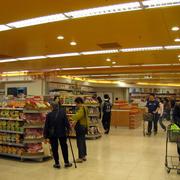 超市置物架装饰效果图