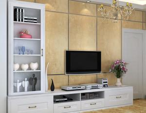 大户型欧式精致风格客厅电视柜装修效果图