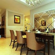 别墅暖色调餐厅装修效果图