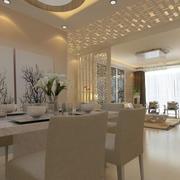120平米东南亚风格餐厅装修效果图