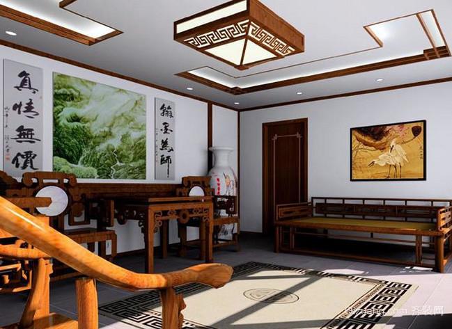 中式现代化简约风格四合院装修效果图