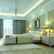 现代简欧大户型卧室背景墙装修效果图鉴赏