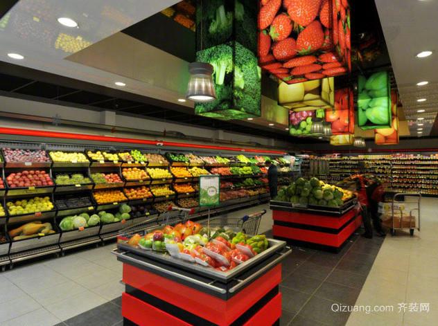 200平米大型购物商城超市装修效果图