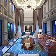 大型法式风格宏伟独栋别墅客厅装修效果图